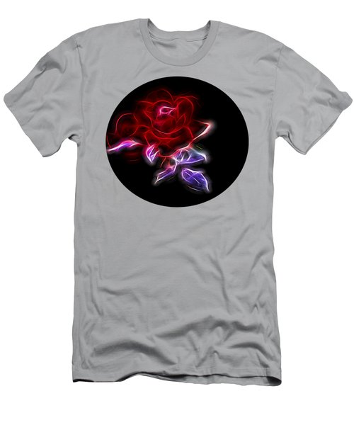 Light Play Rose Men's T-Shirt (Slim Fit) by Linda Phelps