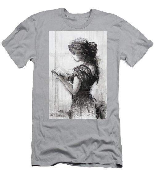 Light Reading  Men's T-Shirt (Athletic Fit)