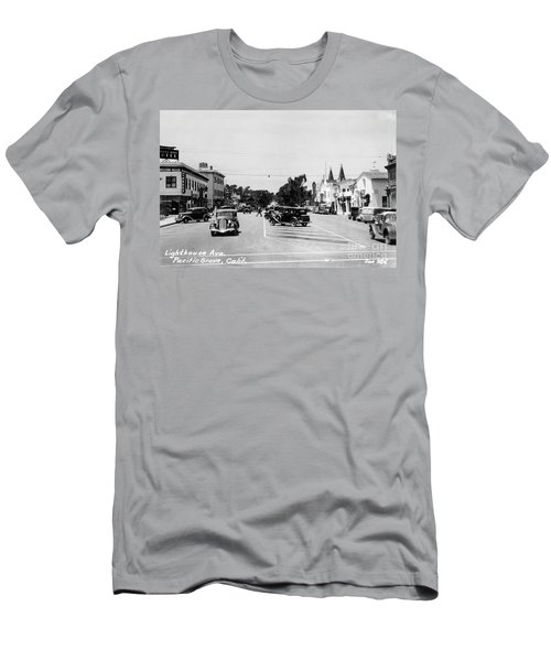 Lighthouse Avenue Downtown Pacific Grove, Calif. 1935  Men's T-Shirt (Athletic Fit)