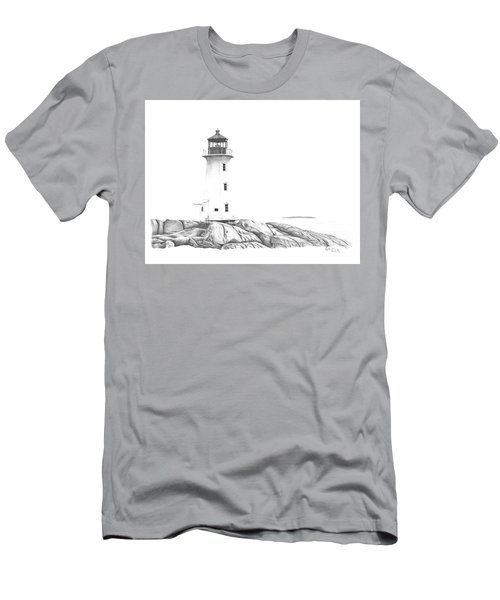 Lighthouse Of Peggy's Cove Men's T-Shirt (Athletic Fit)