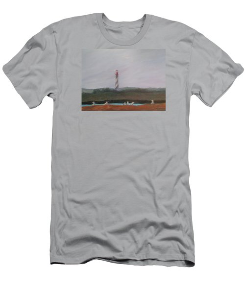 Lighthouse View Men's T-Shirt (Athletic Fit)