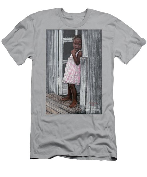 Lil' Girl In Pink Men's T-Shirt (Athletic Fit)