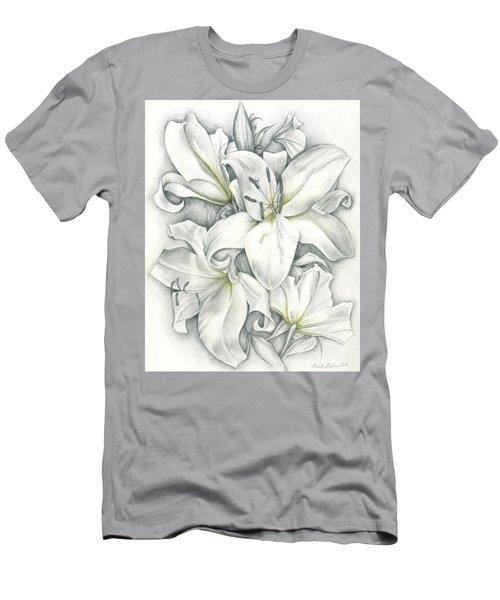 Lilies Pencil Men's T-Shirt (Athletic Fit)