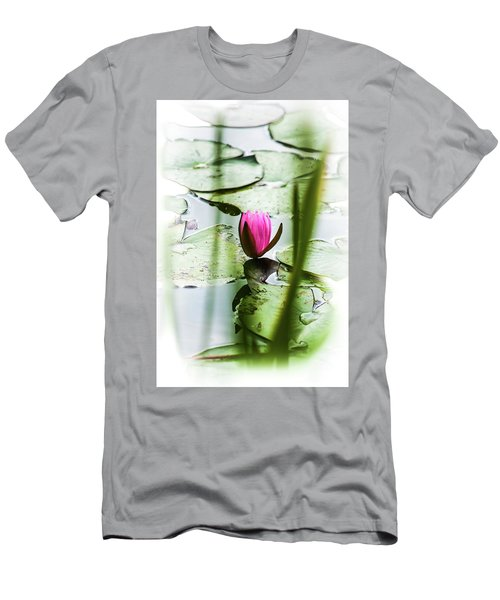 Lily Pad Red - 1001 Men's T-Shirt (Athletic Fit)