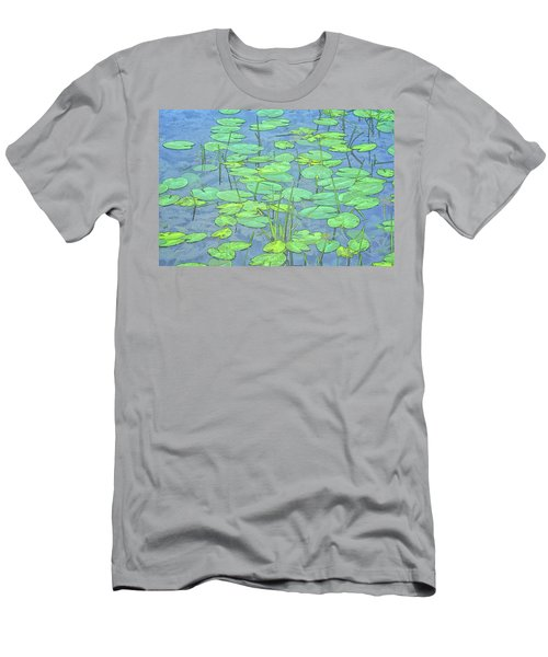 Lily Pads -coloring Book Effect Men's T-Shirt (Slim Fit) by Constantine Gregory