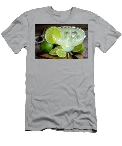 Men's T-Shirt (Slim Fit) featuring the photograph Lime Margarita Drink by Teri Virbickis