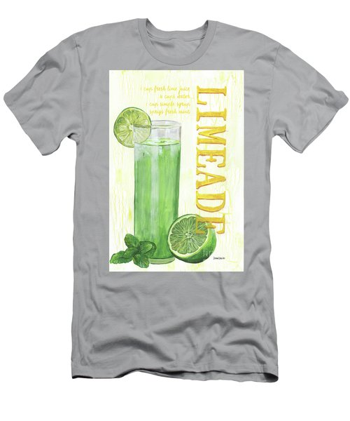 Men's T-Shirt (Slim Fit) featuring the painting Limeade by Debbie DeWitt