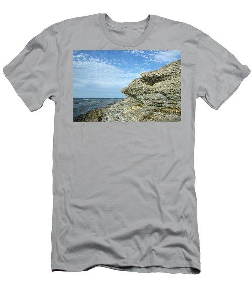Men's T-Shirt (Athletic Fit) featuring the photograph Limestone Cliffs by Kennerth and Birgitta Kullman
