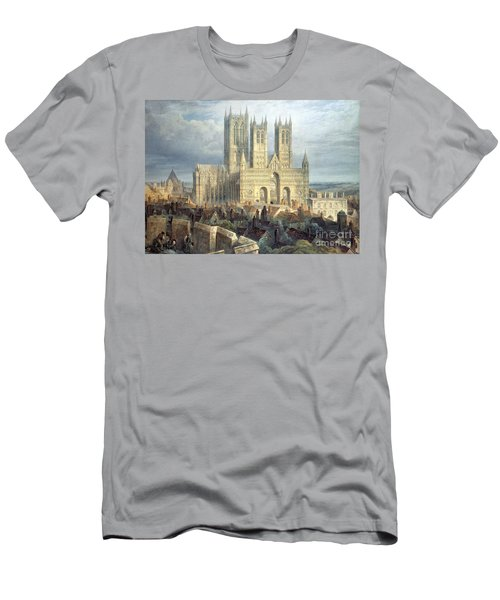 Lincoln Cathedral From The North West Men's T-Shirt (Athletic Fit)