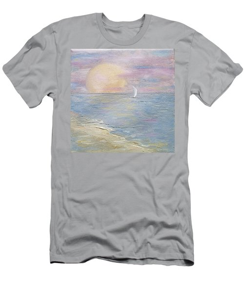 Men's T-Shirt (Athletic Fit) featuring the painting Lingering Freedom by Judith Rhue