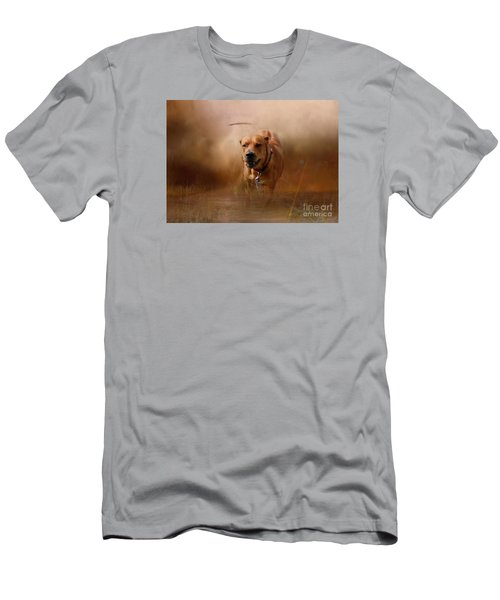 Men's T-Shirt (Slim Fit) featuring the photograph Lion Dog by Mim White