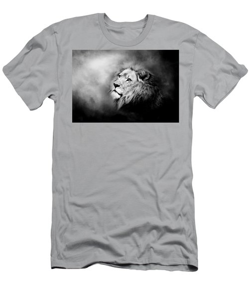 Lion - Pride Of Africa II - Tribute To Cecil In Black And White Men's T-Shirt (Athletic Fit)