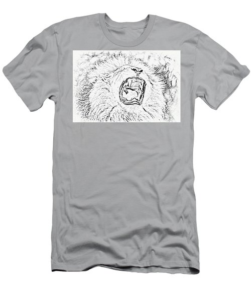 Lion Roar Drawing Men's T-Shirt (Athletic Fit)