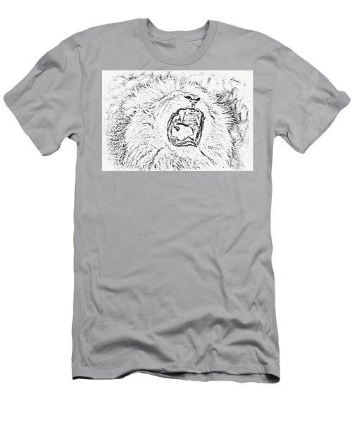 Lion Roar Drawing Men's T-Shirt (Athletic Fit)