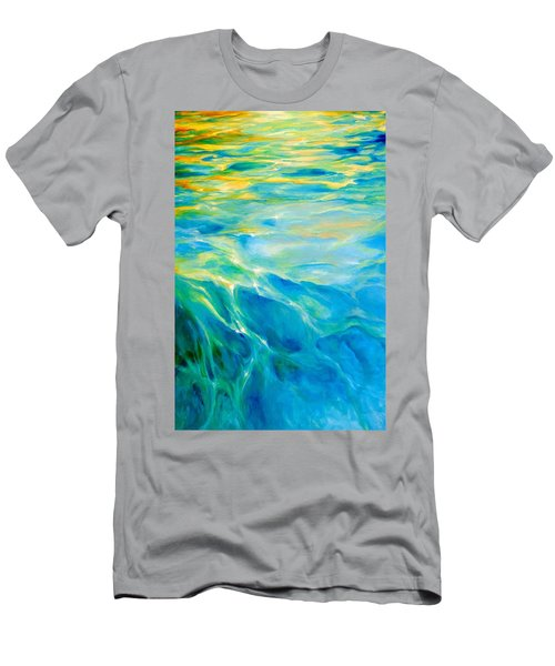 Men's T-Shirt (Slim Fit) featuring the painting Liquid Gold by Dina Dargo