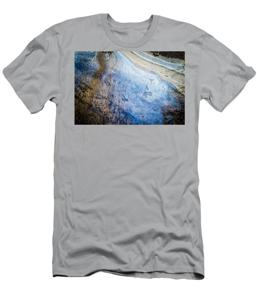 Liquid Oil On Water With Marble Wash Effects Men's T-Shirt (Athletic Fit)