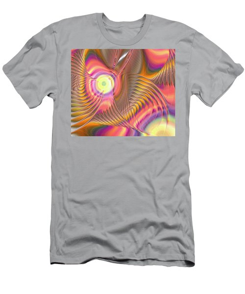 Men's T-Shirt (Athletic Fit) featuring the digital art Liquid Rainbow by Anastasiya Malakhova