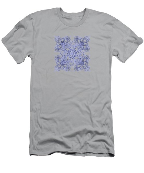 Liquid Spiral Blue Men's T-Shirt (Athletic Fit)