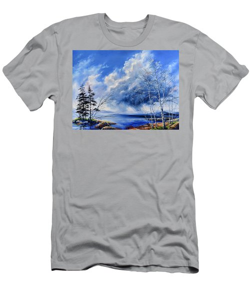 Men's T-Shirt (Athletic Fit) featuring the painting Listen To The Rhythm by Hanne Lore Koehler