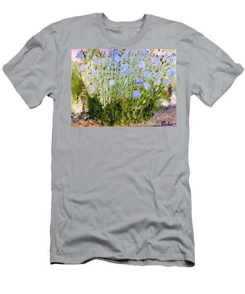 Men's T-Shirt (Slim Fit) featuring the painting Little Bells by Evelina Popilian