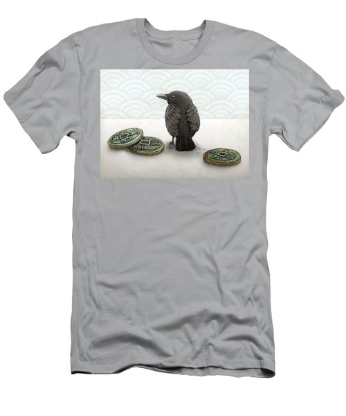 Little Bird And Coins Men's T-Shirt (Athletic Fit)