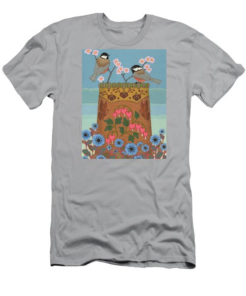 Men's T-Shirt (Athletic Fit) featuring the painting Little Bird by Chholing Taha