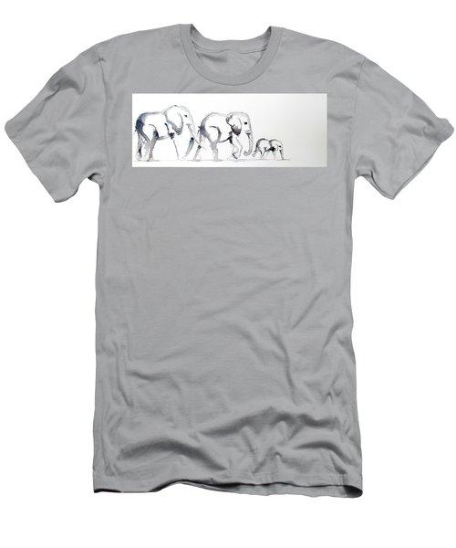 Little Elephant Family Men's T-Shirt (Athletic Fit)
