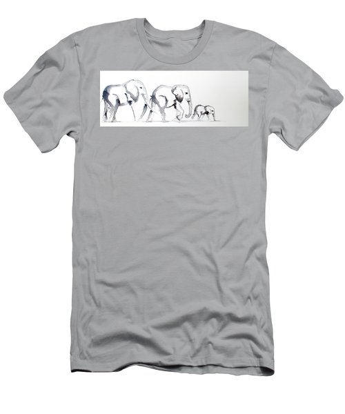 Little Elephant Family Men's T-Shirt (Athletic Fit)