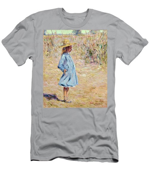 Little Girl With Blue Dress Men's T-Shirt (Athletic Fit)