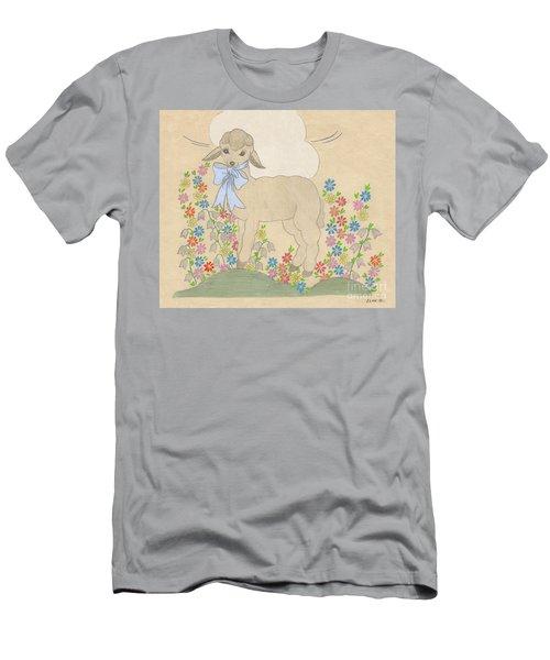 Little Lamb Lightened Men's T-Shirt (Athletic Fit)
