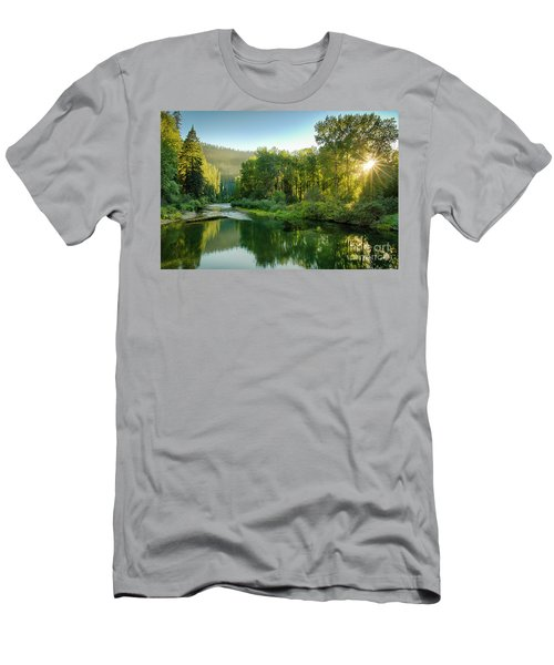 Little North Fork Sun Men's T-Shirt (Athletic Fit)