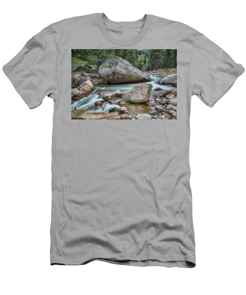 Little Pine Tree Stream View Men's T-Shirt (Slim Fit) by James BO Insogna