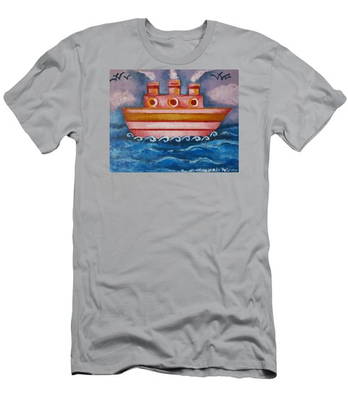 Little Pink Ship Men's T-Shirt (Athletic Fit)