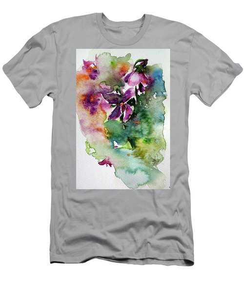 Men's T-Shirt (Slim Fit) featuring the painting Little Violet by Kovacs Anna Brigitta