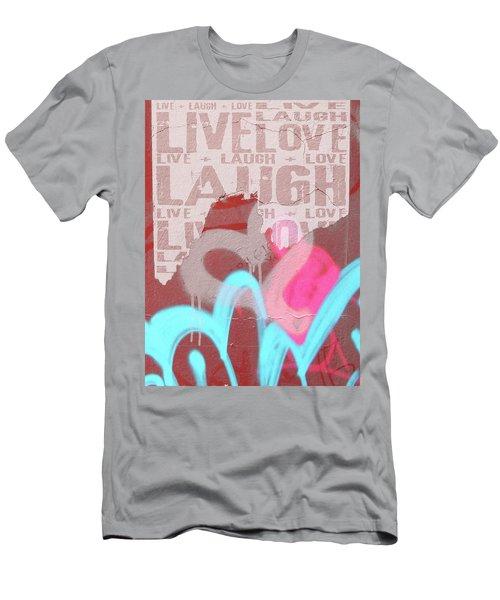 Live Laugh Love Men's T-Shirt (Athletic Fit)