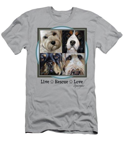 Live Rescue Love Men's T-Shirt (Athletic Fit)