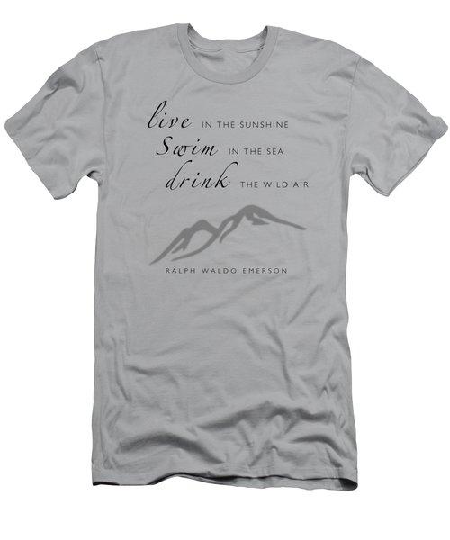Live Swim Drink Men's T-Shirt (Athletic Fit)