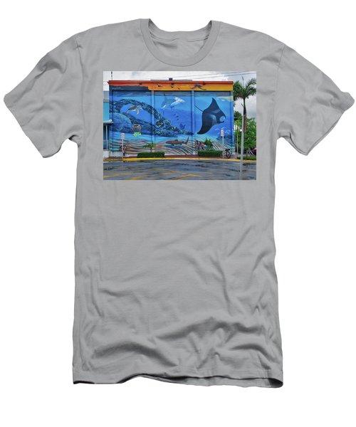 Living Reef Mural Men's T-Shirt (Athletic Fit)