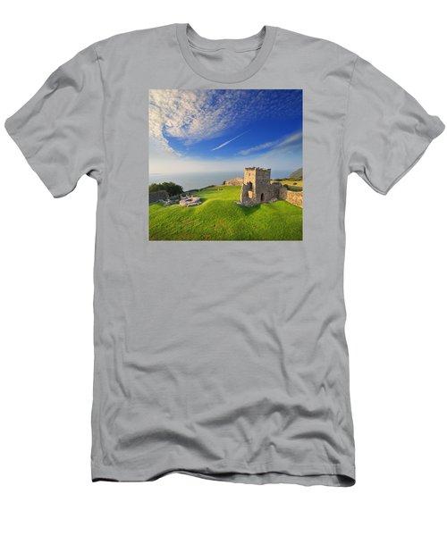 Llansteffan Castle 2 Men's T-Shirt (Athletic Fit)