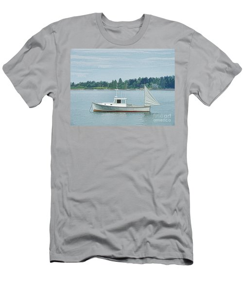 Lobster Boat Harpswell Maine Men's T-Shirt (Athletic Fit)