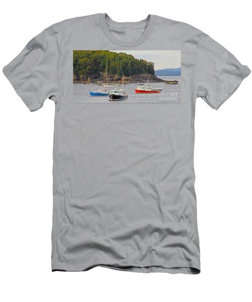 Lobster Boats In Bar Harbor Men's T-Shirt (Athletic Fit)