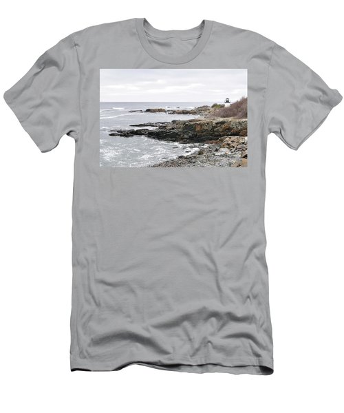 Lobster Point Lighthouse - Ogunquit Maine Men's T-Shirt (Athletic Fit)