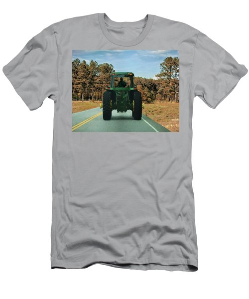 Men's T-Shirt (Athletic Fit) featuring the painting Local Traffic 907 - Painting by Ericamaxine Price