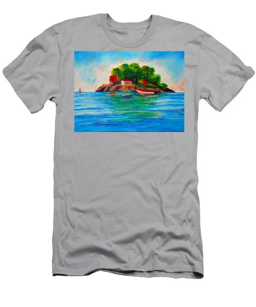 Lonely Island In Greece Men's T-Shirt (Athletic Fit)