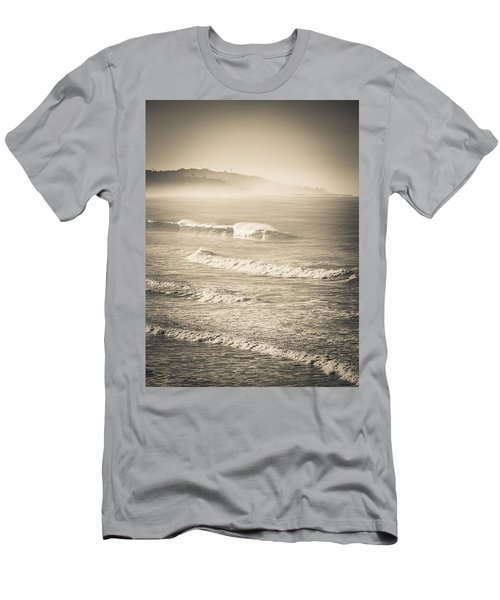 Lonely Winter Waves Men's T-Shirt (Athletic Fit)