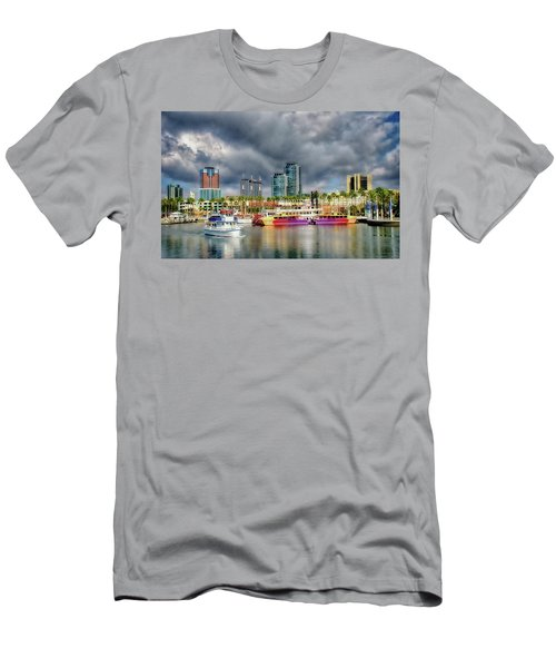 Long Beach Shoreline Marina Men's T-Shirt (Athletic Fit)