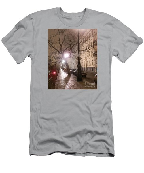 Long Cobblestone Street Of Prague Men's T-Shirt (Athletic Fit)