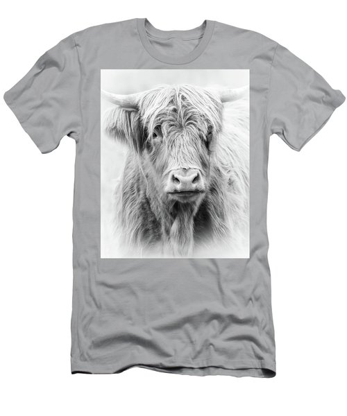 Long Haired Highland Cow Men's T-Shirt (Athletic Fit)