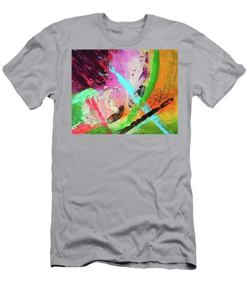 Men's T-Shirt (Slim Fit) featuring the painting Looking Back by Everette McMahan jr