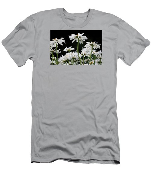 Looking Up At At Daisies Men's T-Shirt (Slim Fit) by Dorothy Cunningham